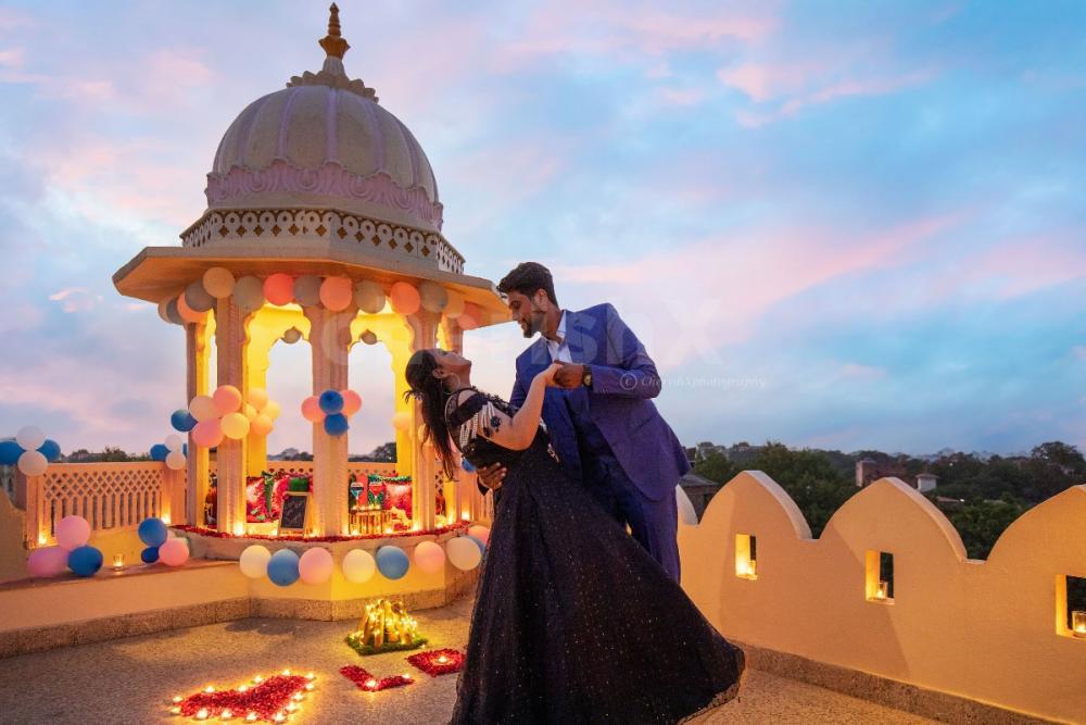 Royal baradari candlelight dinner in Jaipur