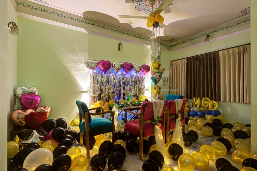 Private dining with birthday decoration in Jaipur