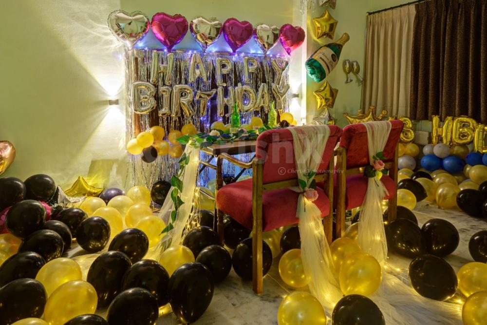 Private dining with birthday decoration in Jaipur by cherishx