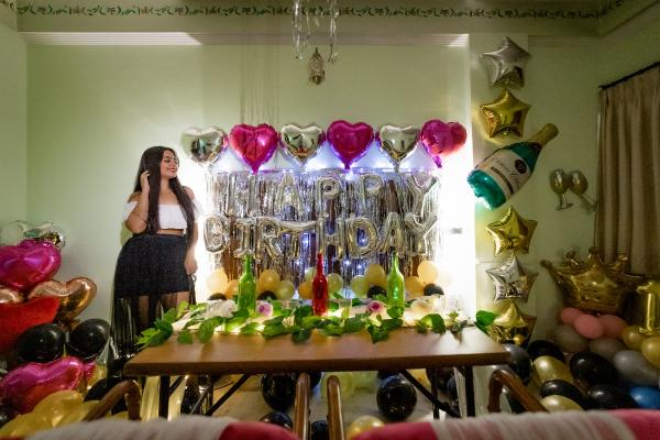 Private romantic dining with birthday decoration in Jaipur