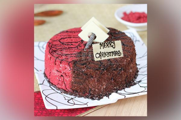 Red Velvet Choco Mud Cake
