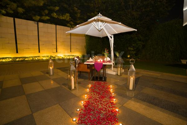 Open air canopy private dining at taj city centre