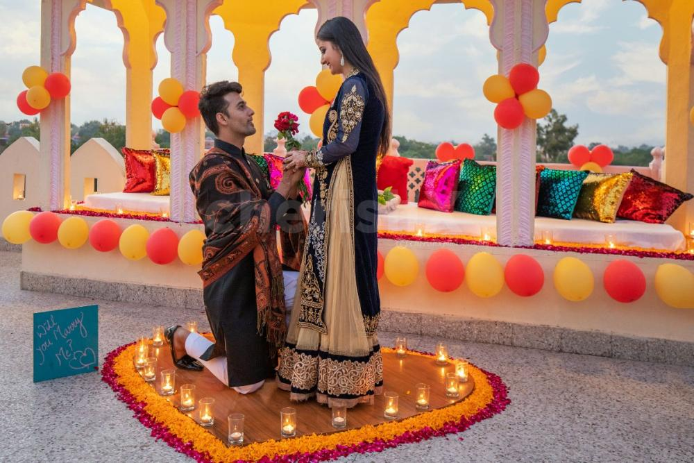 Proposal setup at Sarang Palace Jaipur by CherishX