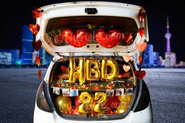Happy Birthday Car Boot Decor