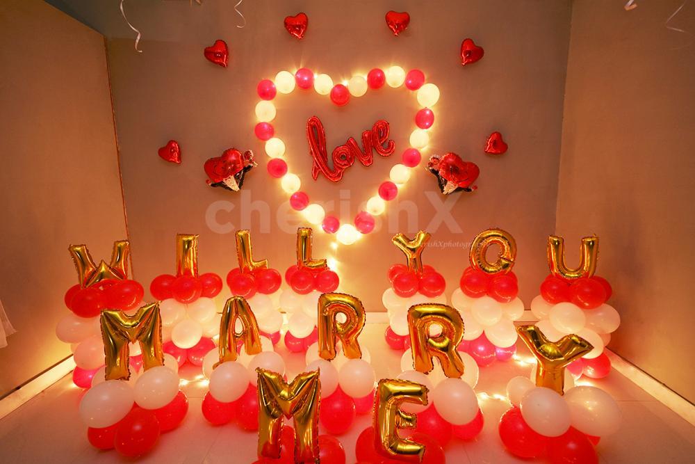 Marry Me Romantic Proposal Decoration