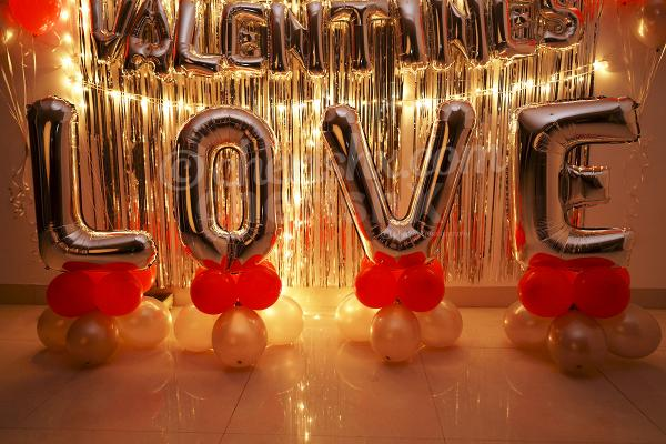 Experience a date like never before with Happy Valentine's Love Decor by CherishX!