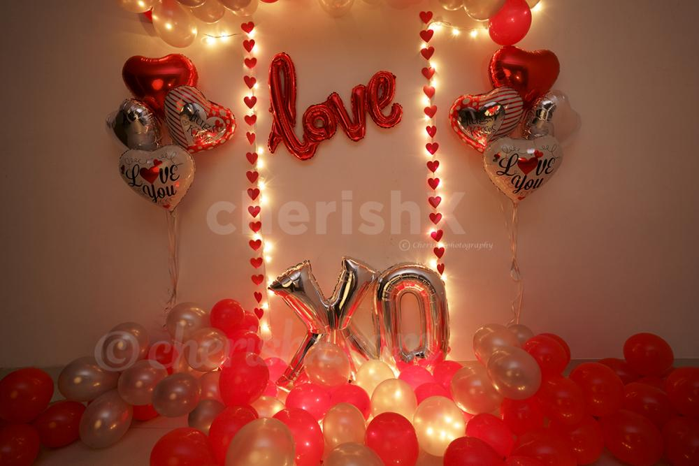 Have a memorable date by booking CherishX's Valentine's Red Love Wall Decor !