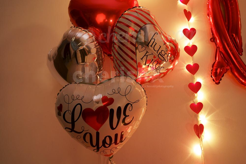 Book Valentine's Red Love Wall Decor by CherishX to give an extraspecial surprise to your loved one!