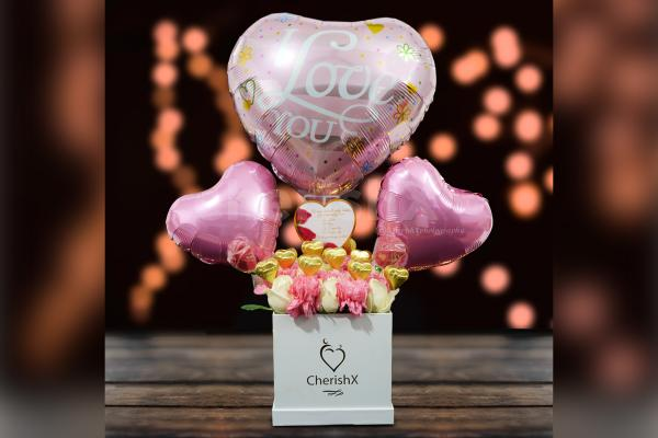 Wish your love Rose Day with CherishX's Pink Colored Rose Day Bucket!