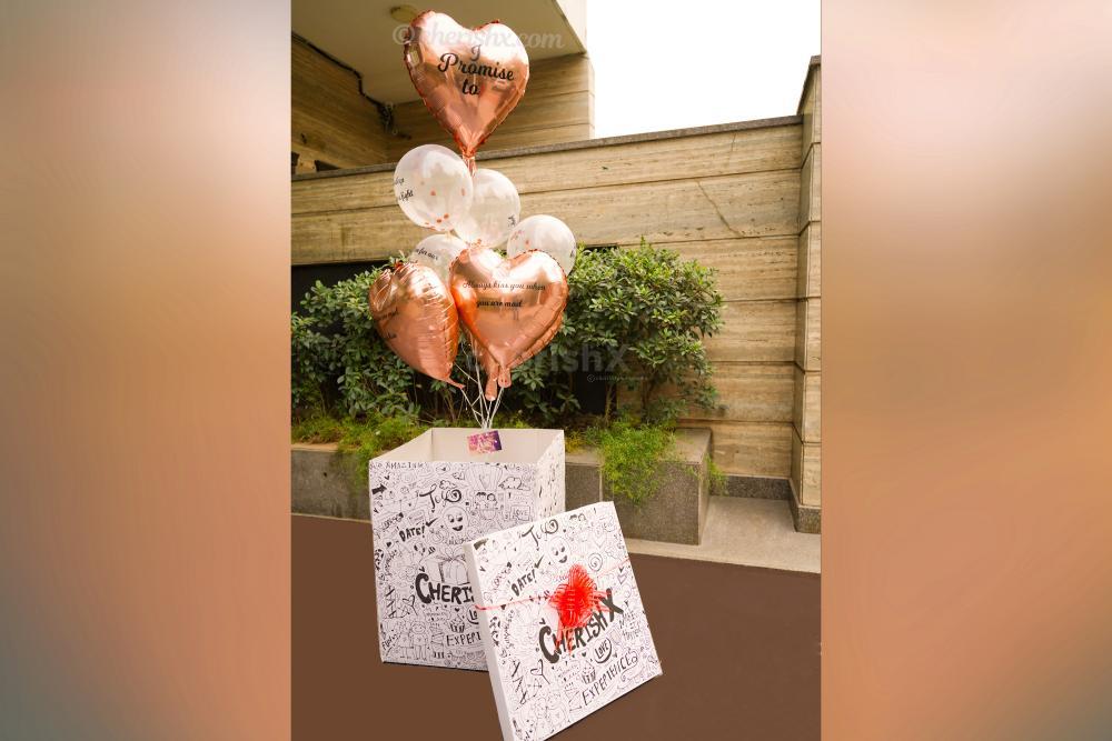 Rose Gold 7 Promises Surprise Box
