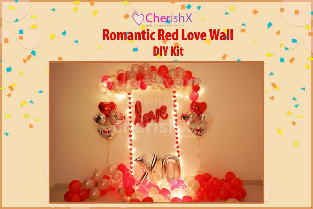 DIY Romantic Red  Love Wall Decoration Kit
