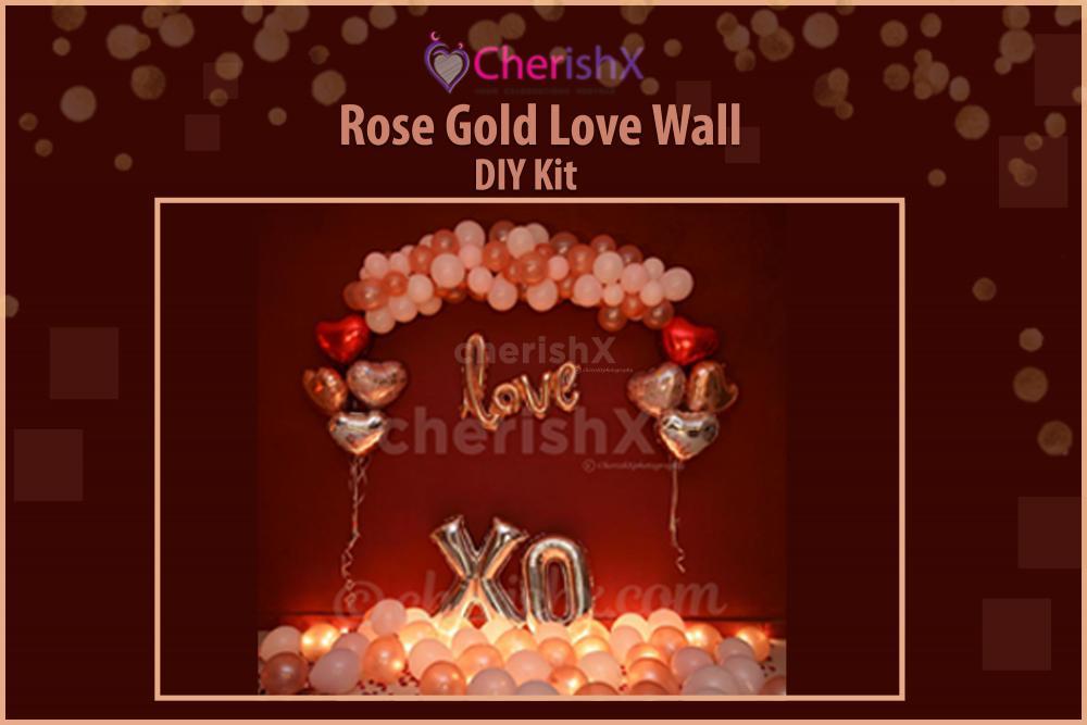 DIY Romantic Rose Gold Love Wall Decoration Kit
