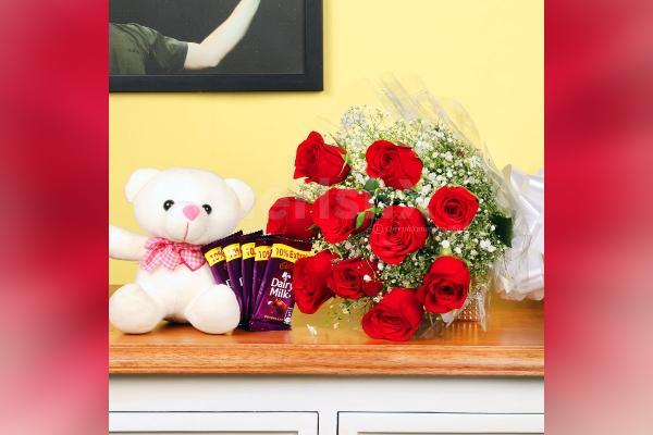 Pure Love – Roses & Chocolates Combo