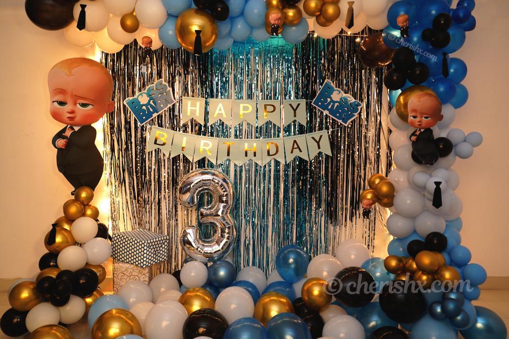 Make your child's birthday amazing with CherishX's Boss Baby Theme Decor