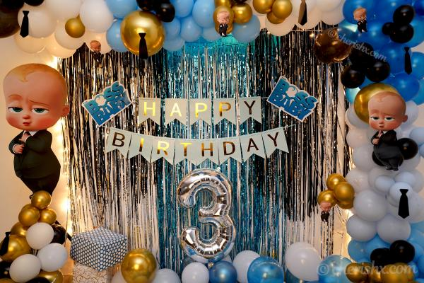 Let your child have a wonderful party by booking CherishX's Boss Baby Theme Decor