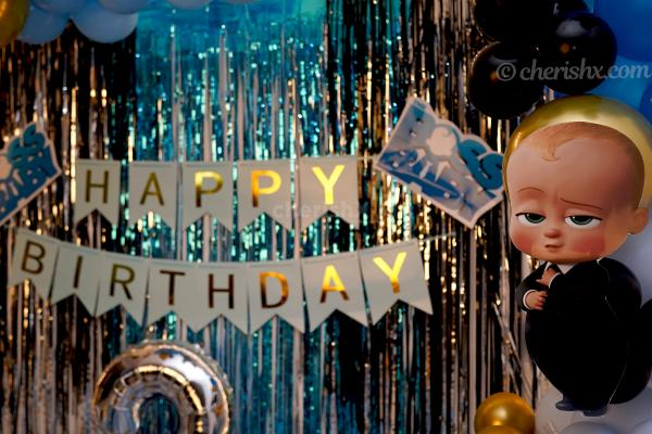 Book CherishX's Boss Baby Theme Decor and throw an amazing birthday bash for your child!