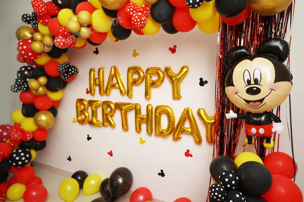 Celebrate your child's birthday with CherishX's Mickey Mouse Birthday Theme Decor!