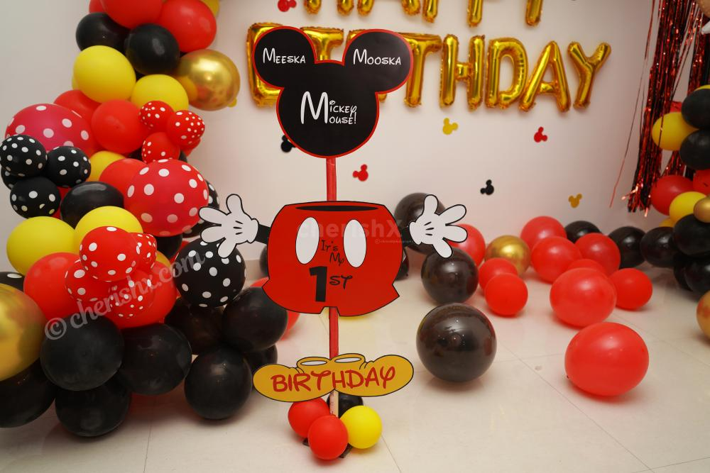 Surprise your child with CherishX's delightful Mickey Mouse Birthday Theme Decor!