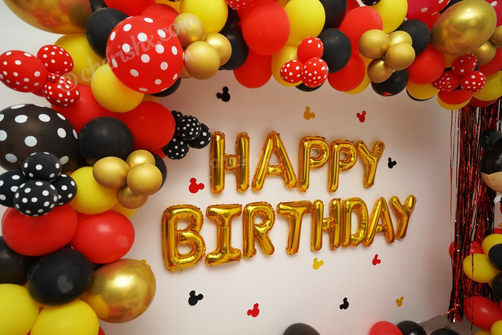 Book CherishX's Mickey Mouse Birthday Theme Decor and have a wonderful Birthday Party for your child!