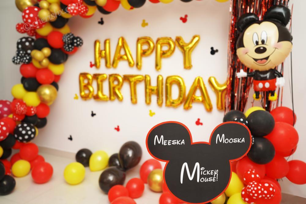 1. Plan your child's birthday with CherishX's Mickey Mouse Birthday Theme Decor!