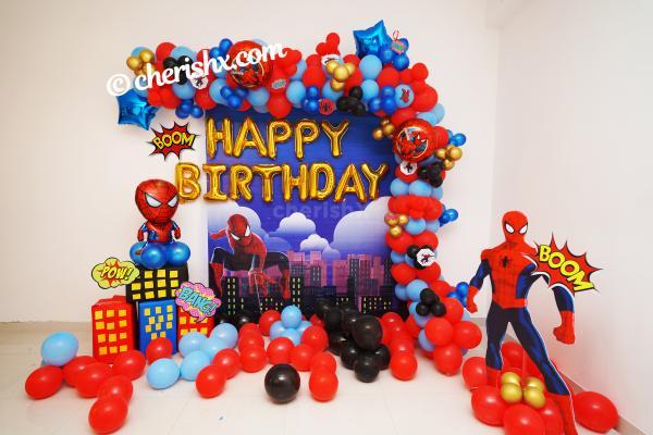 Spider-Man Birthday Theme Decor