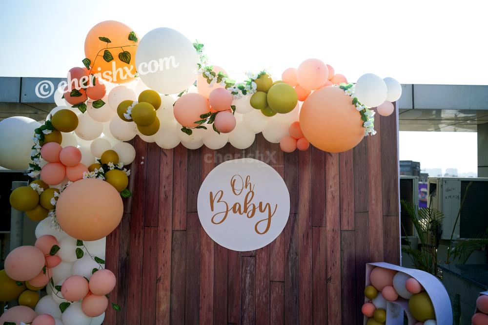 Have a charming baby shower with CherishX's Peach Colored Baby Shower Decor!