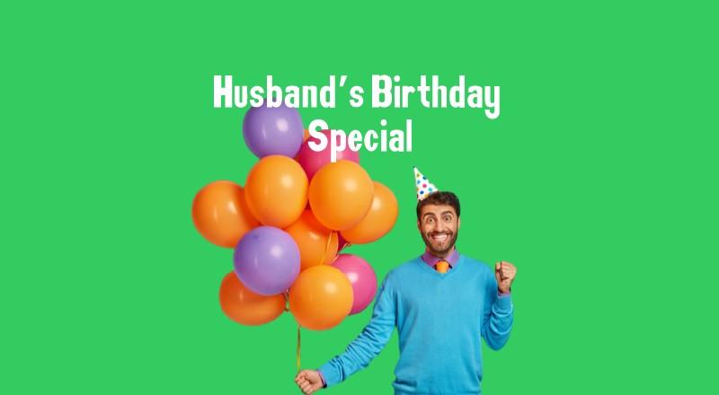 Decoration for Husband's Birthday