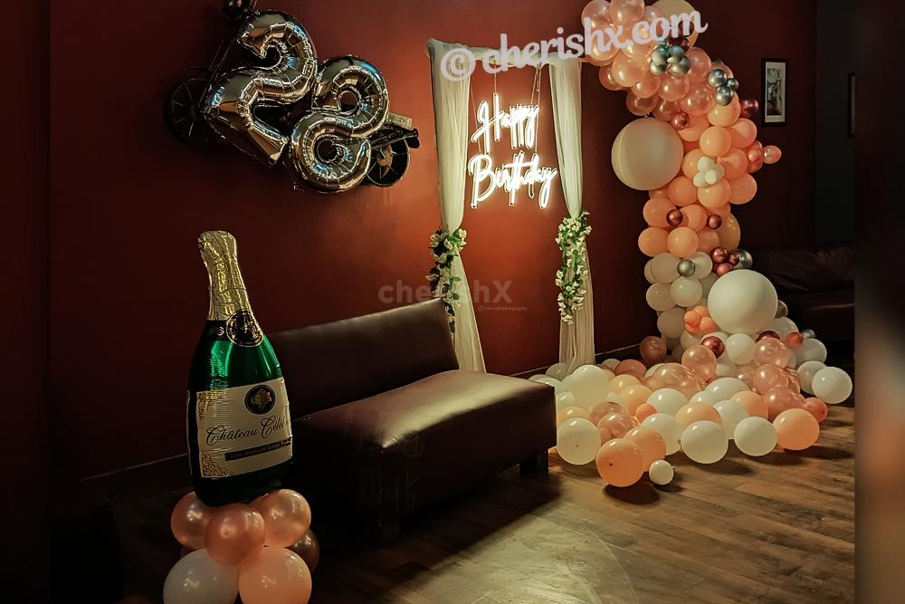CherishX offers this bright Neon light Decor to give your birthday party a chic look!
