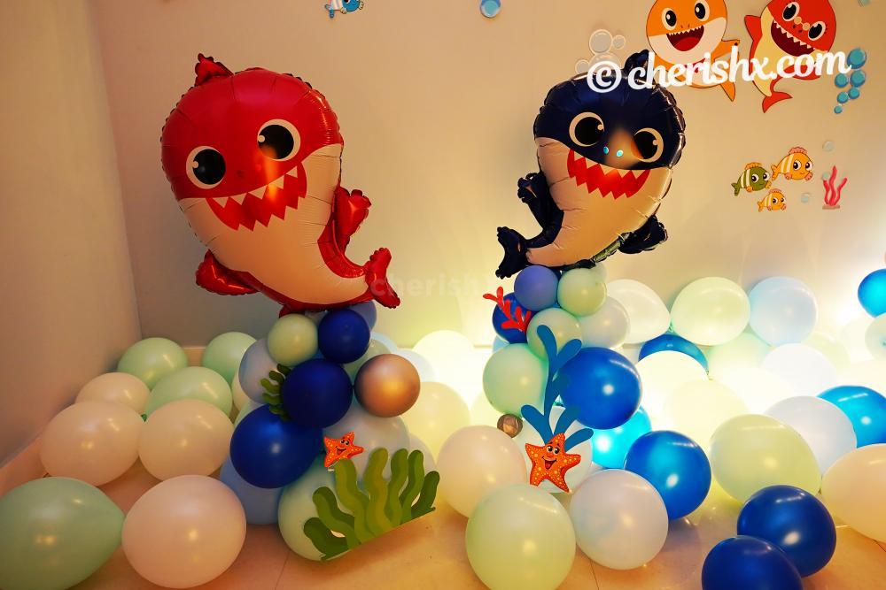 Baby Shark Birthday Balloon Decor