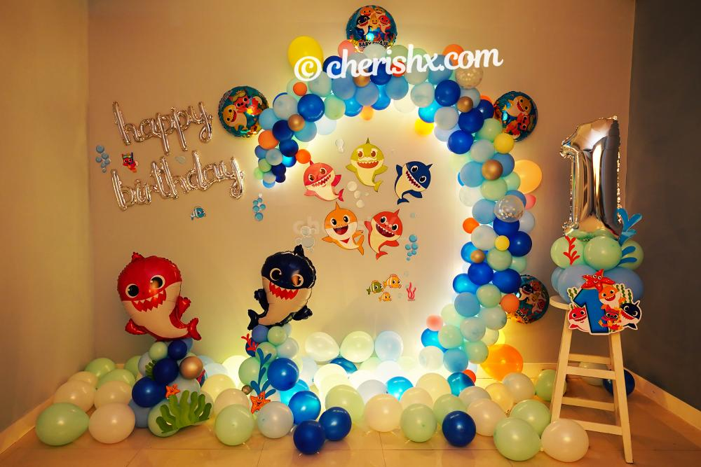 Celebrate your child's birthday with decor filled with a lot of colourful balloons.