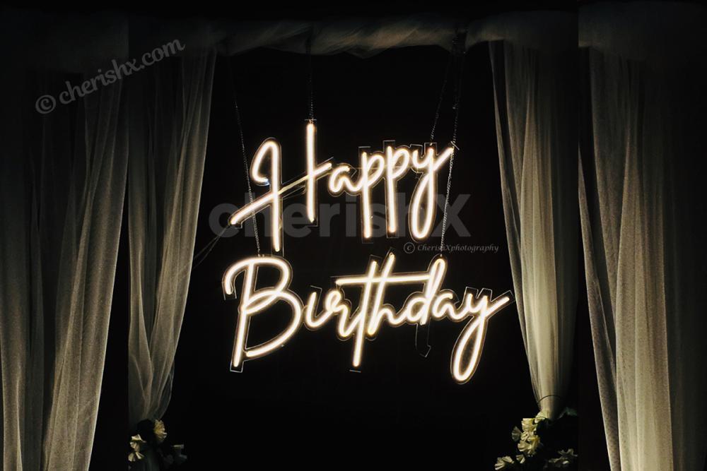 Happy Birthday Neon Light Decoration