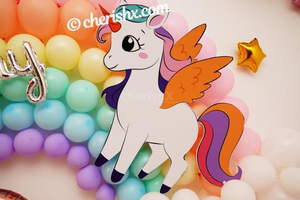 Make your child's birthday exciting by having Unicorn Birthday Theme Decor!
