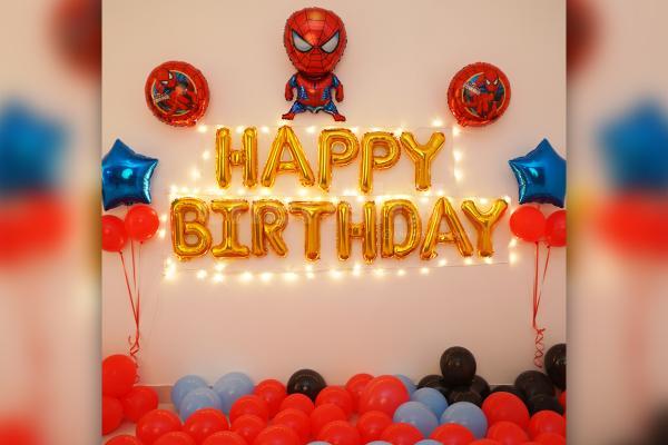 Spider Man Theme Birthday Decoration