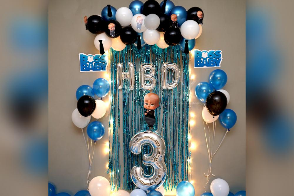 Wish your child a birthday with a mind-blowing birthday decoration surprise.