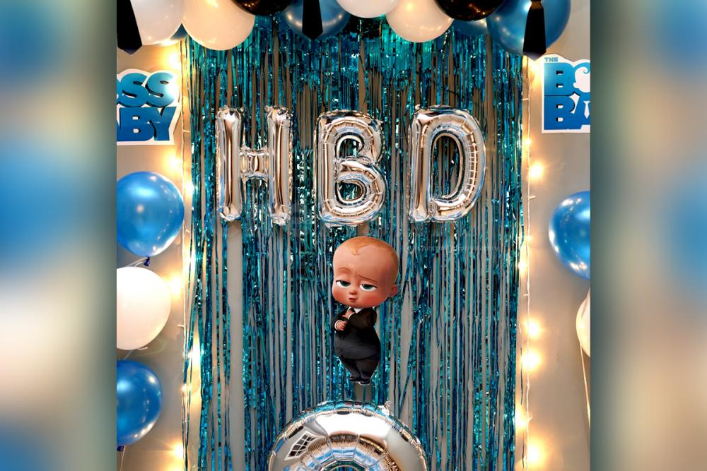 Turn your kid's birthday into an awesome party by having CherishX's Boss Baby Birthday Surprise Decor!