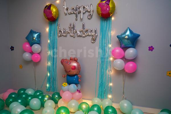 Planning your kid's birthday party? Book this adorable CherishX's Peppa Pig Surprise Birthday Decoration!