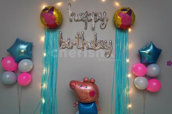 Celebrate your kid's birthday with CherishX's Peppa Pig Themed Birthday decor for an amazing Party!
