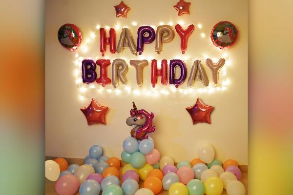 Unicorn Birthday Surprise Decoration