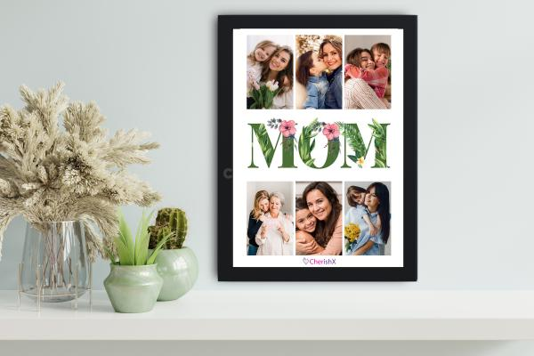 MOM Special Floral Picture Frame