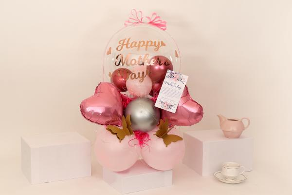 Pink Pastel and Chrome Balloon Bouquet