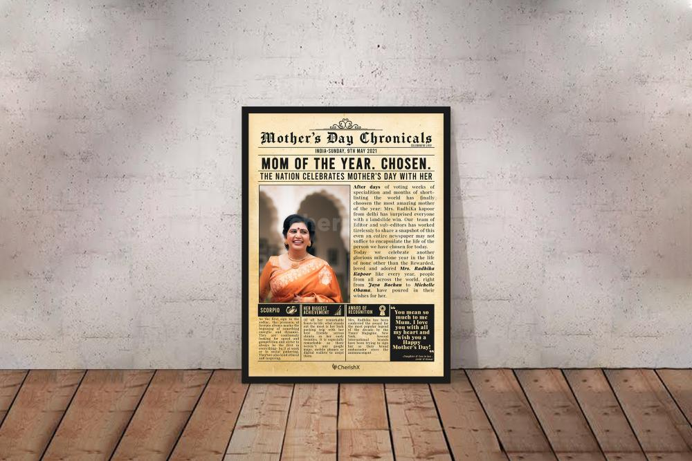 Mother's day newspaper chronicles surprise for your mom