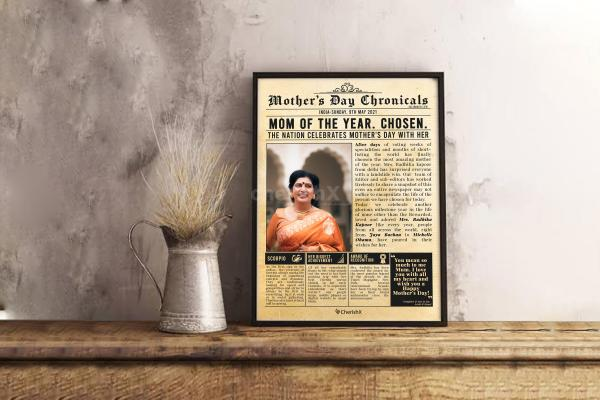 Special newspaper feature gift idea for  mother's day