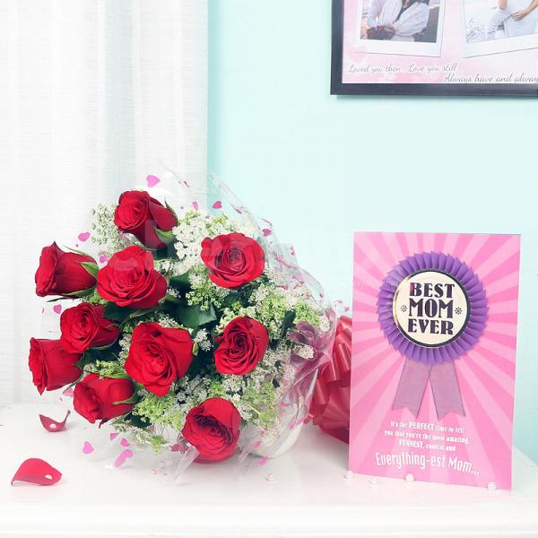 Greeting Card Rose Combo