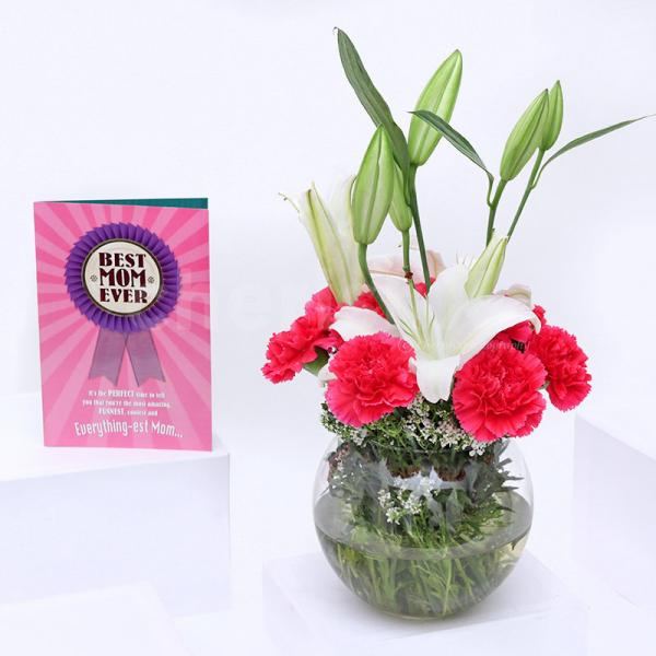 Greeting Card Lily Combo