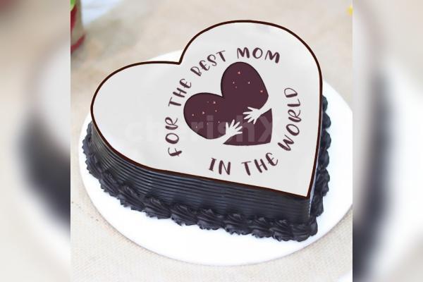 """The Best Mom"" Photo Cake"