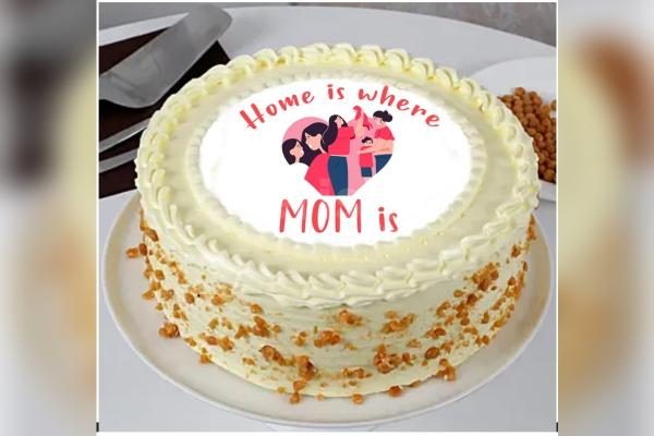 Mother's Day Butterscotch Photo Cake
