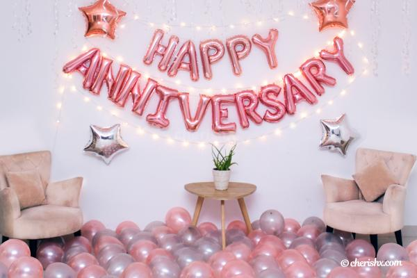 CherishX offers you this charming Rose Gold decoration for anniversaries.