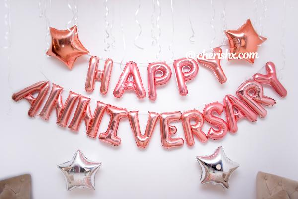 4. A wonderful decoration for anniversaries offered by CherishX.