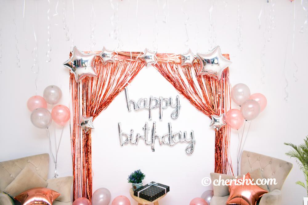A room and wall decoration for birthday celebration by CherishX.