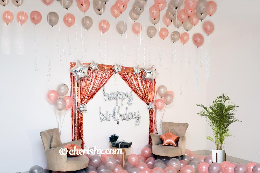 A Simple birthday decoration at home to surprise your close ones.